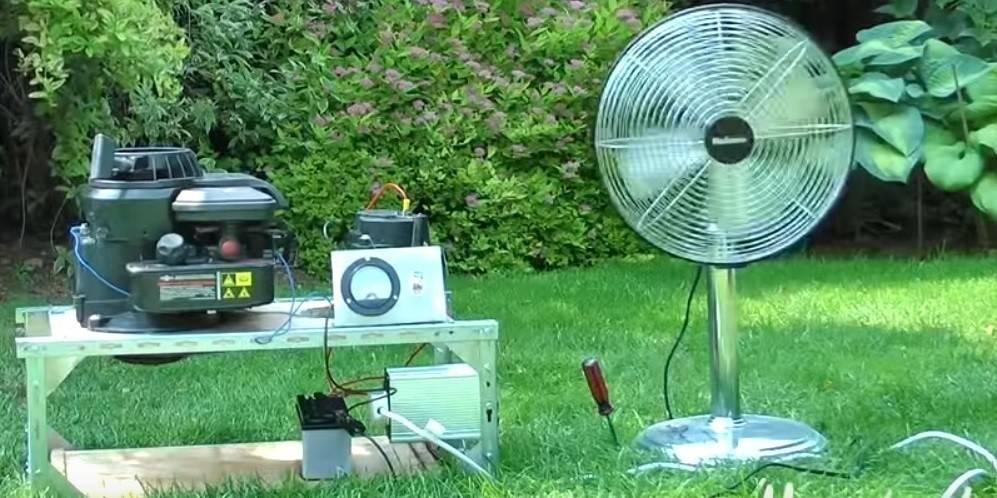 Cómo convertir una cortadora de césped en un generador eléctrico