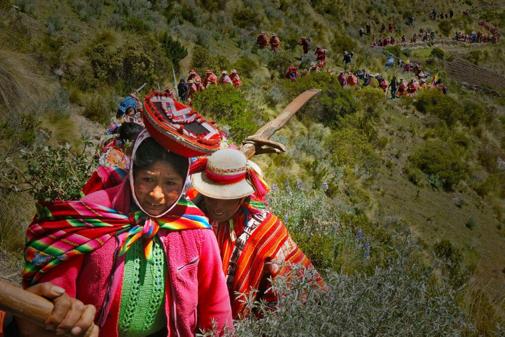 Comunidades indígenas reforestan los Andes para proteger los bosques