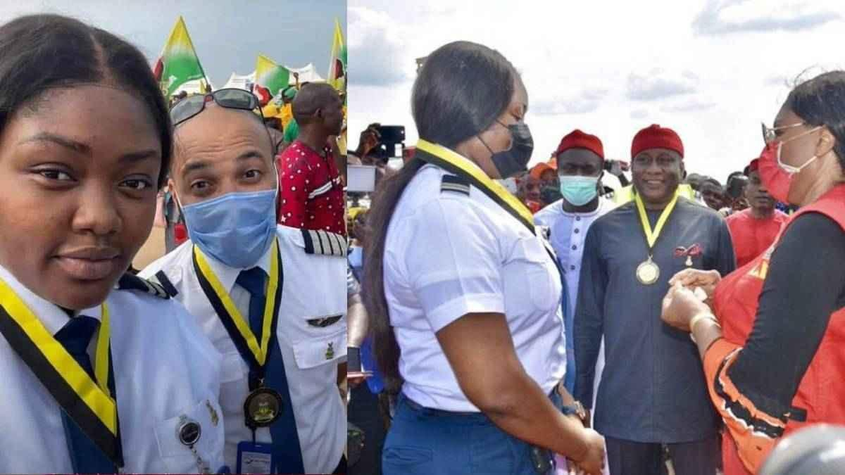 Nigeria celebra el aterrizaje de la primera mujer piloto