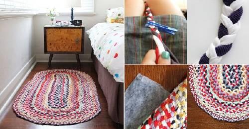 ¿Remeras viejas? ¡Conviértelas en una colorida alfombra!