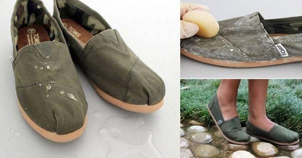Truco sencillo para impermeabilizar zapatos