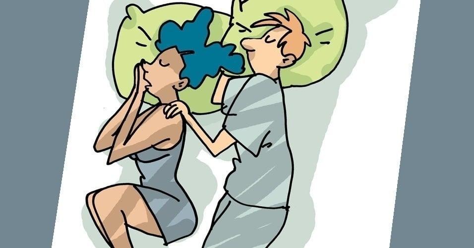 de espalda- dormir en pareja