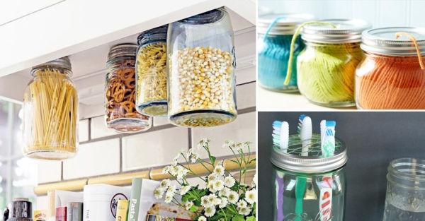 16 ideas para reutilizar frascos de vidrio en todo tu hogar On ideas para reciclar frascos de vidrio