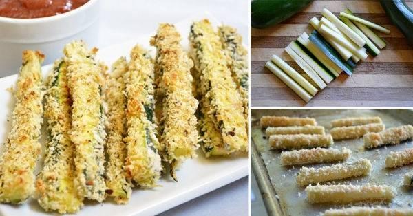Fácil receta para bastones de zuchinni