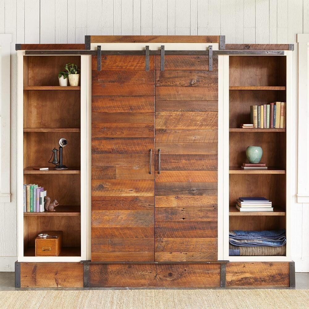 mueble estanter a multifuncional con puertas corredizas