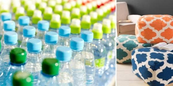 Cómo hacer un puff con botellas de plástico