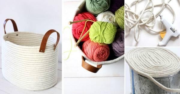Práctica cesta para armar, ¡sin necesidad de coser!