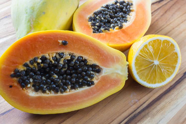papaya y limon semillas de papaya