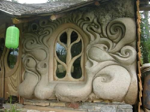 Una hermosa casa ecológica de cob