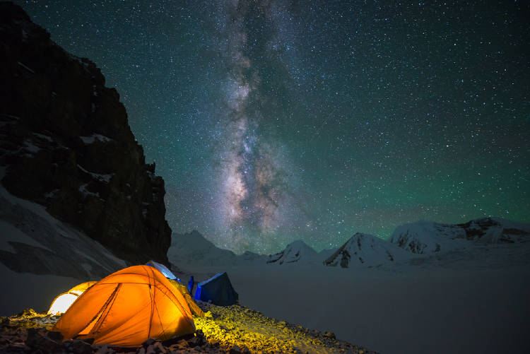 acampar naturaleza