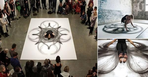 Movimiento transformado en simétricas obras de arte